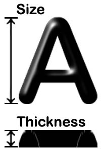 Raised lettering dimensions for clear, visible cast metal marking.